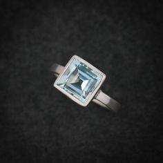 Sky Blue Topaz Princess Cut Solitaire Blue by onegarnetgirl