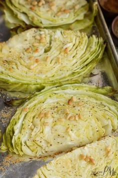 Parmesan Roasted Cabbage with Pine Nuts recipe makes a healthy easy and flavorful side dish. Parmesan Roasted Cabbage with Pine Nuts recipe makes a healthy easy and flavorful side dish. Healthy Side Dishes, Healthy Sides, Veggie Dishes, Food Dishes, Side Dishes For Turkey, Easy Side Dishes, Diabetic Side Dishes, Quinoa Side Dish, Vegetarian Side Dishes