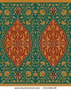 "Buy the royalty-free Stock vector ""Mudaris Seamless Border Three"" online ✓ All rights included ✓ High resolution vector file for print, web & Social Med. Pattern Books, Pattern Art, Islamic Tiles, Islamic Art Pattern, Persian Motifs, Iranian Art, Arabic Art, Islamic Art Calligraphy, Stencil Patterns"