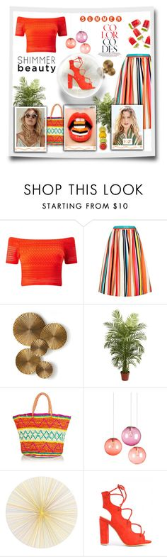 Orange By Madhu 147 Liked On Polyvore Featuring Miss Selfridge Alice