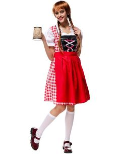 Bavarian Bar Girl Maid Womens Halloween Costume  sc 1 st  Pinterest & Pink Pretty Beer Girls Halloween Maid Costume (u20ac32) ? liked on ...