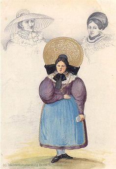Radhaube, Obergünzburgerin 1852