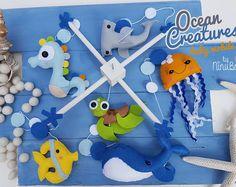 Ocean Baby Mobile - Crib Mobile - Cot Mobile - Sea Creatures Mobile - Nursery Mobile - Nautical Mobile - Sea Life Mobile - Baby Mobile