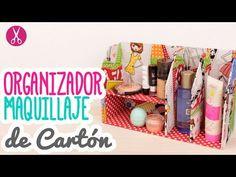 Organizador de Maquillaje con Cartón - Paso a Paso - Cartonaje | Catwalk - YouTube
