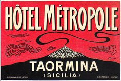 Luggage label, Taormina