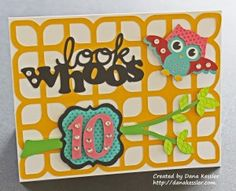 Artbooking Owl Birthday card - CtMH by Dana Kessler