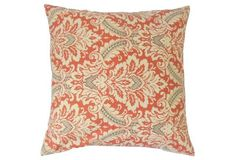 Jasmijn Damask 20x20 Pillow, Red