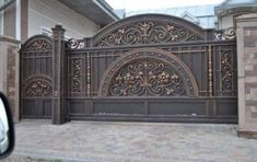 34 ideas main door ideas design wrought iron for 2019 House Main Gates Design, Front Gate Design, Door Gate Design, Fence Design, Iron Main Gate Design, Metal Gates, Wrought Iron Gates, Front Gates, Entrance Gates