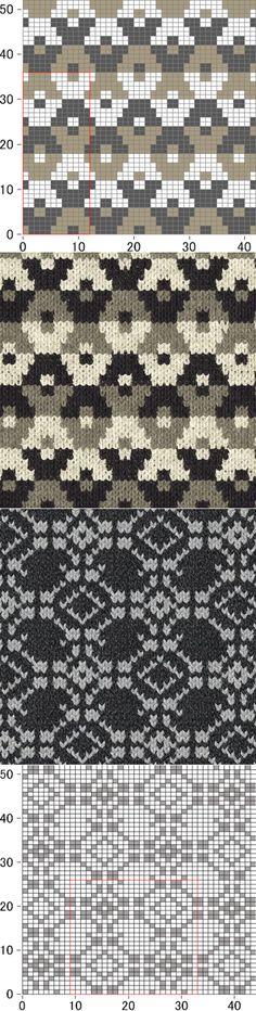 Flat fabrics, various, colors Без заголовка. Intarsia Knitting, Knitting Charts, Knitting Stitches, Mosaic Patterns, Stitch Patterns, Knitting Patterns, Crochet Patterns, Fair Isle Chart, Fair Isle Pattern