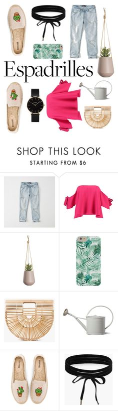 """The Indoor Garden"" by gloeser ❤ liked on Polyvore featuring Abercrombie & Fitch, Boohoo, Cult Gaia, Soludos and CLUSE"