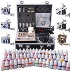 6-Gun Pro Tattoo Machine Kit w/ Case 54Ink