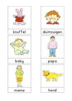 Woordkaarten Bas 'Dit zijn wij' 2 Family Theme, My Family, Learn Dutch, Dutch Language, School Themes, Exercise For Kids, Papa Baby, Primary School, Kids Learning
