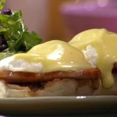 Eggs Benedict - minus the English muffin...or for a treat a GF English muffin