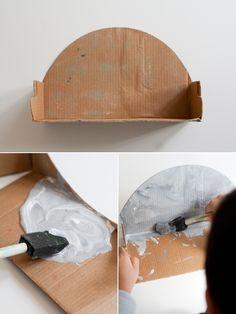 DIY Cardboard Shelf #easy #quick
