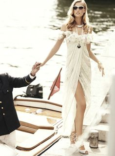 """collections-from-vogue:  Toni Garrn & Clive Owen in """"The Spy Who Loved Me"""" Photographed By Alexi Lubomirski & Styled By Belén Antolín For Vogue Spain, October 2011"""