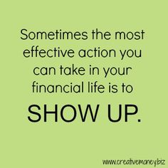 The most effective action for your money... | www.creativemoney.biz