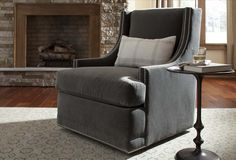 Look at me I SWIVEL!! This is the 1082 Brie Swivel Chair from Clayton Marcus! Visit www.claytonmarcus.com