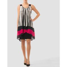 Joseph Ribkoff dress ($215) ❤ liked on Polyvore featuring dresses, multicolored, joseph ribkoff, colorful dresses, multi colored dress, multi-color dress and multicolored dress