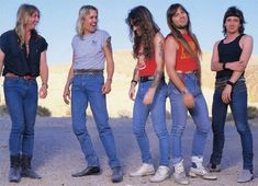 Iron Maiden's classic era line-up get ready for the release of Somewhere In Time, their 1986 synthesizer album.