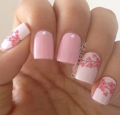Check out these Cute floral nail designs, simple flower nail designs, flower nail art designs to inspire you towards fashionable nails like you never imagined before. Spring Nail Trends, Nail Designs Spring, Spring Nails, Spring Design, Winter Nails, Flower Nail Designs, Flower Nail Art, Nail Art Designs, Nails Design