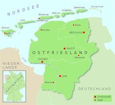 Ostfriesland hervorgehoben - Ostfriesland – Wikipedia