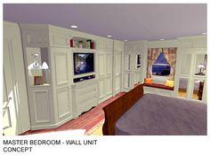 Bedroom Shelving Units   Master Bedroom Wall Unit   Long Island, NY View  Concept