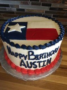 Texas flag birthday cake