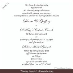 Wedding Wording Examples Wedding Invitation Wording Sample 10