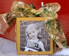 Bear Rabbit Bear Crafts: DIY Photo Desk Organizer Gifts