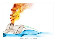 Volcano Island (smokeart) by beppeverge, via Flickr