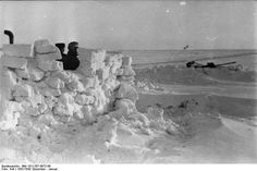 Germans soldiers in snow , winter 1941