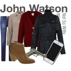 John Watson outfit, Sherlock, though I'd wear it without the gun.