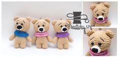 Přívěsek medvídek Easter Crochet, Crochet Toys, Little Cotton Rabbits, Montessori Baby, Ribbon Embroidery, Mobiles, Knitting Patterns, Diy And Crafts, Projects To Try