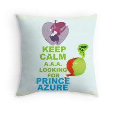 """Keep Calm Theory - PRINCE AZURE"" Throw Pillows by Alchimia   Redbubble"
