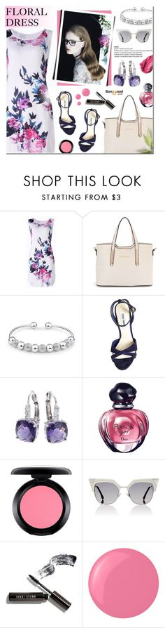 """Banggood 9 - Floral Dress"" by anyasdesigns ❤ liked on Polyvore featuring Steve Madden, Blumarine, Christian Dior, MAC Cosmetics, Fendi, Bobbi Brown Cosmetics, Essie, Urban Decay, dress and floralprint"