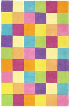 @rosenberryrooms is offering $20 OFF your purchase! Share the news and save!  Girls Color Blocks Rug #rosenberryrooms