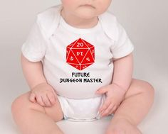 64cc97647 Dungeons and Dragons D&D Future Dungeon Master Personalized Baby Onesie