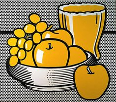 Roy Lichtenstein 1972 – STILL LIFE WITH SCALLOPED BOWL – Oil and magna on canvas (107 x 122 cm) | Favourite Art