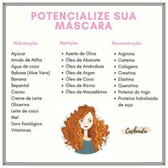 Ingredientes que podem te ajudar a potencializar a sua máscara de acordo com cada etapa do seu cronograma. Beauty Care, Beauty Hacks, Hair Beauty, Curly Hair Styles, Natural Hair Styles, Natural Hair Journey, Hair Care Tips, Curly Girl, Spa Day