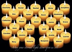 Light a candle in memory of these beautiful children