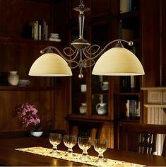"""Φωτιστικό κρεμαστό, με σώμα από ατσάλι σε αντικέ καφέ και γυαλί σε σαμπανιζέ χρώμα. Το γυαλί είναι χειροποίητα """"βουρτσαρισμένο"""". BELUGA από την Eglo. ----------------  Double pendant luminaire with body made of steel in antique coffee color and glass in champagne color. The glass is hand-painted """"brushed"""". #handdecorated #handmade  #classicstyle #lighting #classiclight #diningroom #pendant #pendantlight #pendantlamp #pendantlighting #papantoniougr #diningroom #diningtable #homedecor… Decor, Lamp, Lighting, Eglo, Pendant Light, Modern, Living Spaces, Chandelier, Ceiling Lights"""