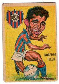 Figurita Tarjeton Futbol Sport 1967 #76 Roberto Telch San Lorenzo