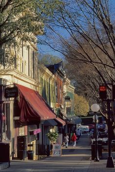"""Downtown College Town, Athens, GA. University of Georgia's hometown... """"an oasis of cool in the middle of nowhere."""""""
