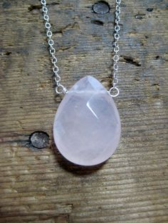 SALE  Rose Quartz and Sterling Silver by hoitytoitydesigns on Etsy, $15.00