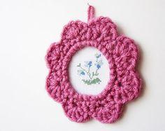 Crochet Picture Frame Pattern by JaKiGu. PDF Crochet by JaKiGu