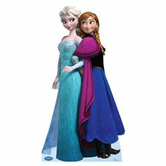 Elsa and Anna Frozen Disney Cardboard Cutout... Can be kept in a bedroom after a Frozen birthday party. Put it in front of a backdrop for some cute party pics with the kids. Anna Disney, Anna Frozen, Film Frozen, Disney Frozen Party, Frozen Birthday Party, Anna Et Elsa, Frozen Queen, Queen Elsa, Frozen Snow