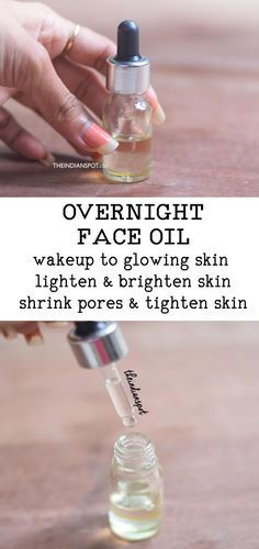 OVERNIGHT FACE OIL for brighter, glowing skin Fae serums and facial oils are concentrated solutions/oils of skin-friendly potent ingredients that work at cellular level and target problematic areas. They are definitely expensive but you can make Natural Hair Mask, Natural Skin Care, Natural Hair Styles, Natural Beauty, Natural Face, Organic Beauty, Natural Makeup, Diy Savon, Lighten Skin