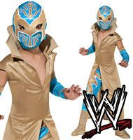 Child TV Show WWE World Wrestling Sin Cara Deluxe Mexican Lucha Wrestler Costume