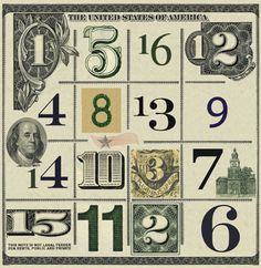 order 4 Magic Squares, Letters And Numbers, History, Nature, Historia, Naturaleza, Nature Illustration, Off Grid, Natural