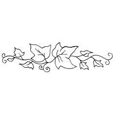 Ivy Leaf Template Ivy Outline Clip Art Vector Online